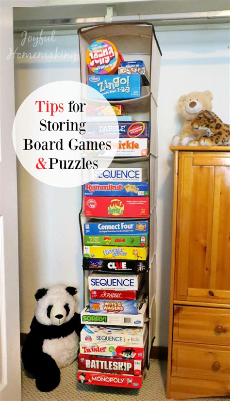 game storage ideas tips for storing board games and puzzles joyful homemaking
