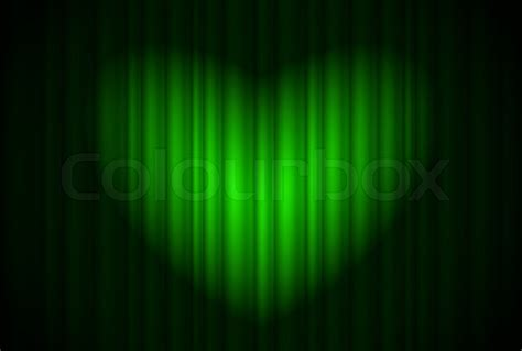 Spotlight Green by Stage With Green Curtain And Spotlight Great Shaped