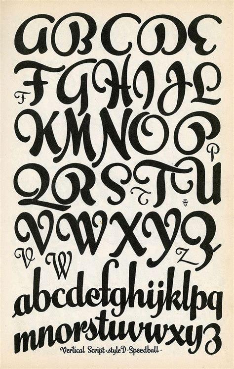vertical script speedball lettering lettertype