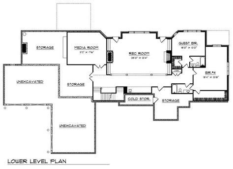 basement floor plan country home with 5 bdrms 6311 sq ft floor plan 101 1361