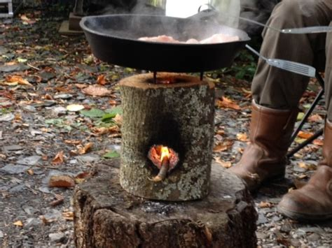 How To Build An Outdoor Wood Burning Fireplace - one log rocket stove 101 ways to survive