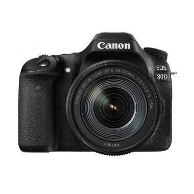 Kamera Canon Eos 80d Kit 18 135mm Is Nano Usm Paketan Garansi Resmi jual canon eos 80d wifi kit 18 135mm is usm kamera dslr black free lcd screen guard