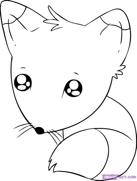 chibi fox coloring page how to draw a chibi fox step by step chibis draw chibi