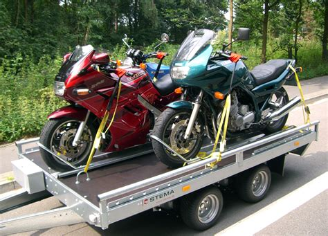 Motorrad Auf Anhänger Befestigen Bilder by Bilder Und Biketrailer24 De Motorrad Anh 228 Nger