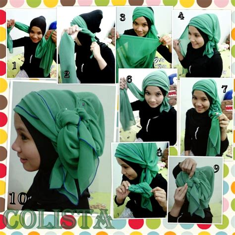 tutorial hijab turban hari raya tutorial hijab paris turban green by colista jpg 1024