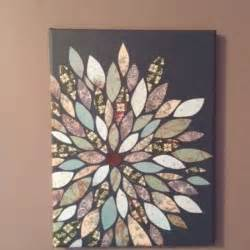 Cool Painting Ideas On Canvas by Cool Decore Idea Uses Scrap Boon Paper Cut Into Petals