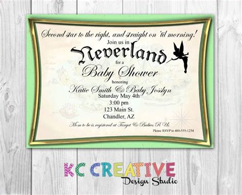 pan invitation template join us in neverland custom pan and tinkerbell