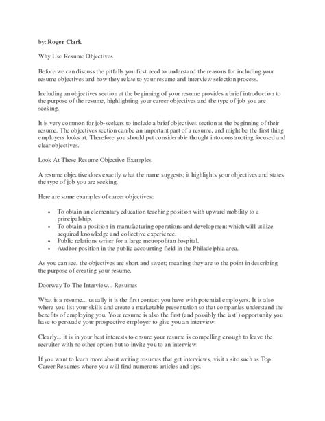 what should go in the objective section of a resume a good objective to put on a resume resume exles 2017