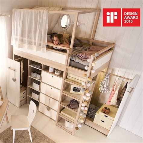 glamorous childrens beds with built in wardrobe pics spot high sleeper storage kids bed in acacia white a