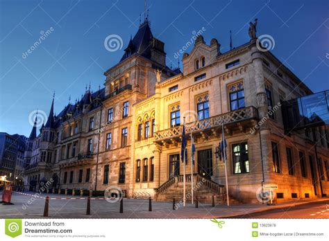 Lu City Z grand ducal palace in luxembourg city royalty free stock
