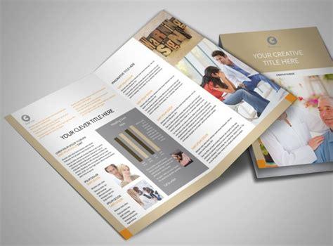 Mental Health Counseling Center Bi Fold Brochure Template Mental Health Brochure Templates