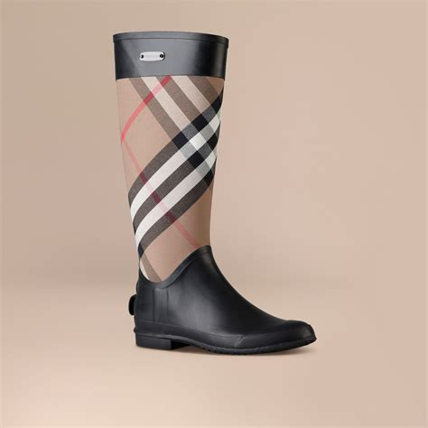 burberry boots for check panel boots burberry