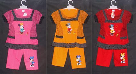 Setelan Minnie Mouse Kuning baju tidur gloria baju anak