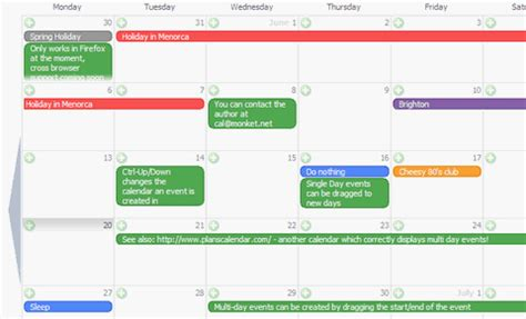 Php Calendar Monket Open Source Ajax Calendar Web Resources Webappers