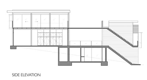 side elevation house 1532 fougeron architecture archdaily