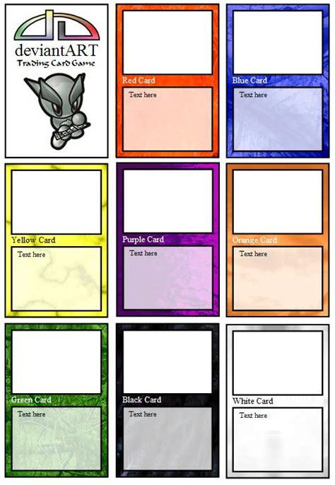 tcg card template deviantart trading card by weichimaster on deviantart