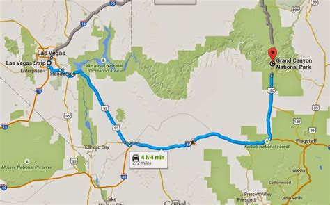 grand map from las vegas driving from las vegas to the grand trip tips las