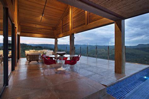 mountain house interior design galeria de casa da montanha david guerra 5