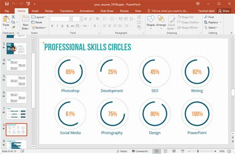 presentation skills layout your resume animated powerpoint template