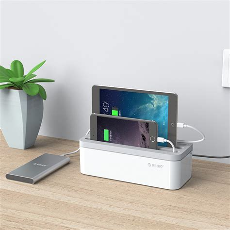 charger organizer orico storage box organizer for covering and hiding desktop charger