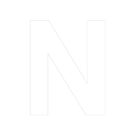 N 8 Black black and white letter n pictures to pin on