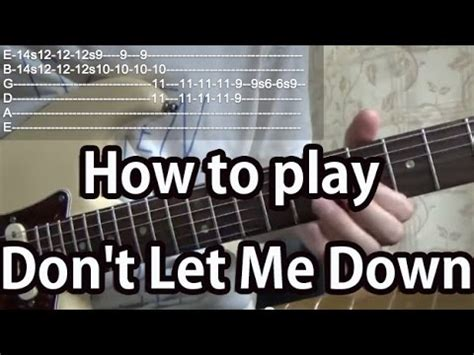 tutorial dance don t let me down how to play don t let me down the beatles guitar tutorial