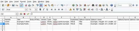 csv format shopify shopify how to create csv file for products import