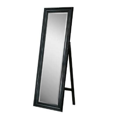 Black Floor Mirror by Deco Mirror 18 In X 64 In Carousel Floor Mirror In Black