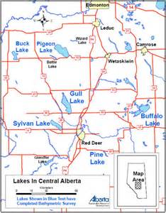 deer alberta canada map colour bathymetry maps aep environment and parks