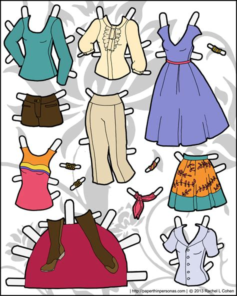 How To Make Paper Doll Clothes - another sheet of clothing for ms mannequin paper thin