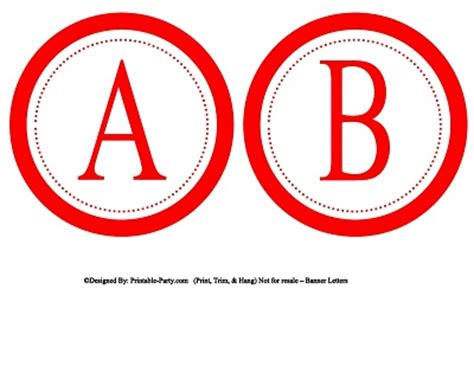 printable red alphabet letters 5 inch small circle printable alphabet letters a z