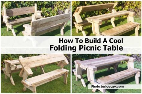 build  cool folding picnic table