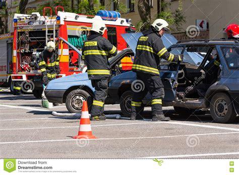 Rescue Car and rescue service at car crash editorial image cartoondealer 18801524