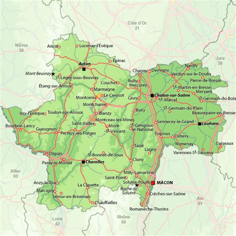 Map search for holiday rentals Saône et Loire