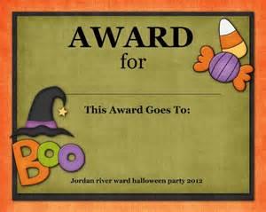 Halloween Costume Certificate Template Costume Contest Award Template Buscar Con Google