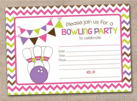 printable birthday party invitations bowling printable girls bowling party invitation fill in the blank