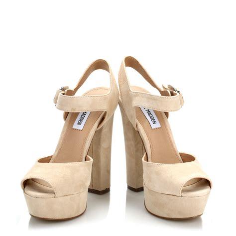 steve madden high heels steve madden womens blush jillyy suede high heels beige