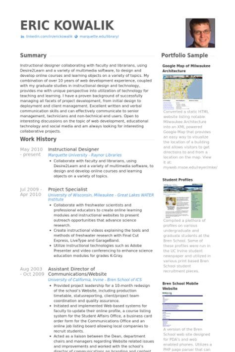 resume exles templates simple instructional design