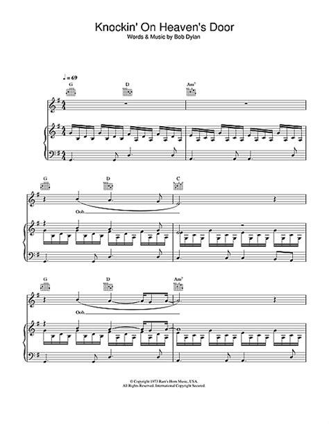 knocking on heaven s door piano tutorial knockin on heaven s door sheet music by bob dylan piano