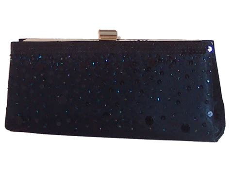 navy blue satin beaded evening clutch bag evening bags