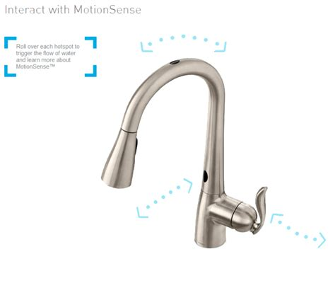 Moen Motionsense Kitchen Faucets by Moen Arbor With Motionsense Kitchen Faucet Windy Pinwheel