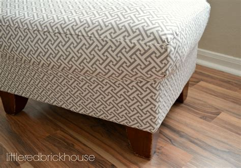 reupholstering an ottoman furniture makeover how to reupholster an ottoman little