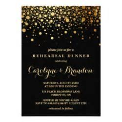 black and gold invitations & announcements   zazzle