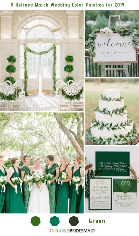 march colors 8 refined march wedding color palettes for 2019