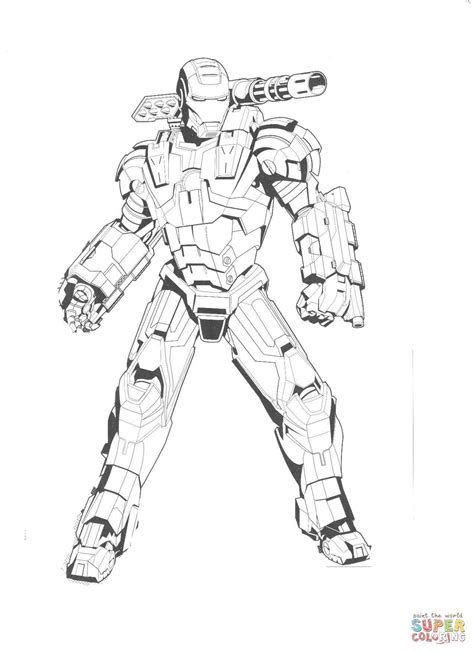 ironman coloring pages free draw to color war machine coloring pages coloring pages