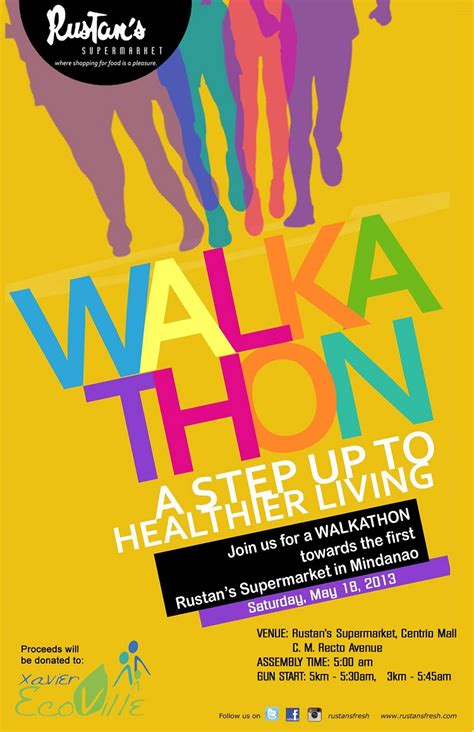 Join The Rustan S Fresh Walkathon Bukidnonvoice Walk A Thon Flyer Template
