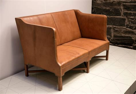 two person sofa 2 1 2 person sofa in nigerian goatskin on cuban mahogany