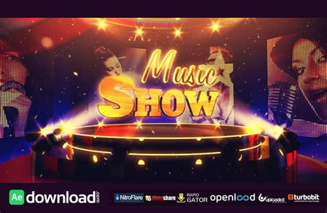 Music Show Free Videohive Template Free After Effects Template Videohive Projects Template Bumper After Effect Free