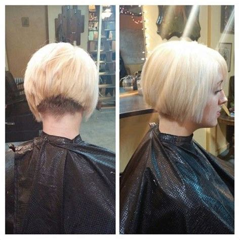 clippered back bob haircut inverted bob with a clippered nape inverted bob s