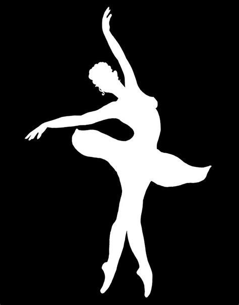 ballerina white silhouette painting by irina